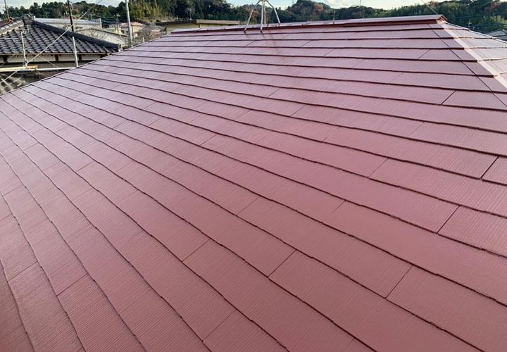 ファインパーフェクトベストのブラウンで塗装したスレート屋根