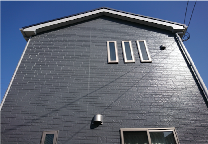 松戸市幸田にて、オートンイクシードでの目地補修とパーフェクトトップ(ND-013)で外壁塗装を行いました