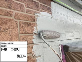 柏市みどり台にて足場を有効的に活用し外壁塗装工事、高耐久塗料ダイヤスーパーセランフレックスを使用しました