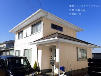 屋根:クールトリノブラウン-外壁:ND-460-付帯部:白