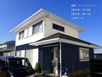袖ケ浦市横田で屋根外壁塗装を検討されたお客様邸カラーシミュレーションの様子