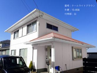 屋根:クールライトブラウン-外壁:15-85B-付帯部:白