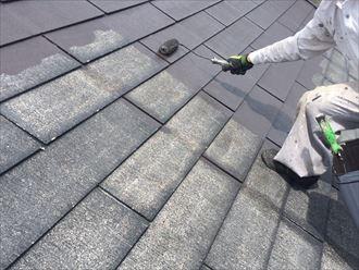 トリノブラウンで屋根塗装