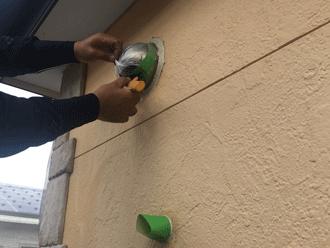 習志野市東習志野にて外壁と付帯部の色分けでアクセントのある仕上がりに