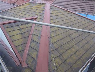 高圧洗浄前のスレート屋根