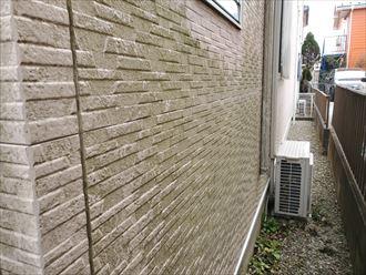 サイディングの塗膜の剥がれにより防水性が低下し苔が発生