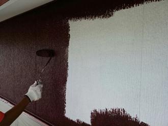 1F外壁塗装 中塗り