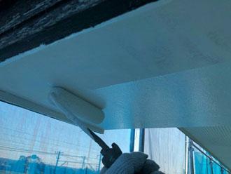 ケンエース N-90を使用した軒天塗装