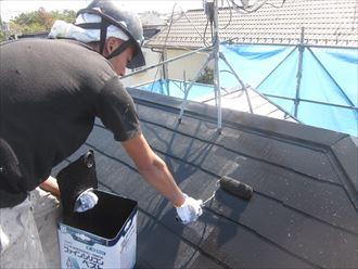 ファインシリコンベストの屋根塗装