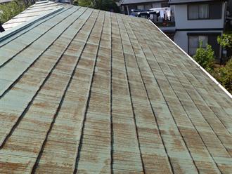 スレート屋根材の汚れ