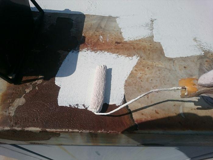 屋根の錆止め塗装