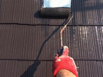 サーモアイSi クールコーヒーブラウンでスレート屋根の塗装