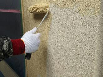 エラストコートでリシン仕上げのモルタル外壁塗装