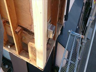 下地木材の補修工事