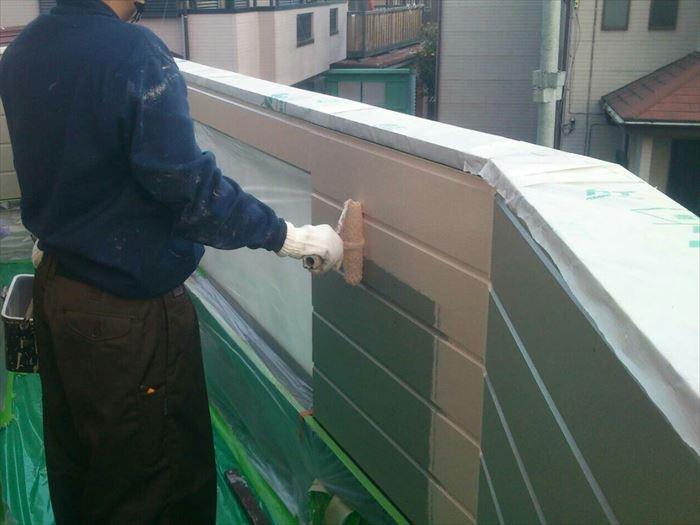 窯業系サイディング張替後の塗装補修