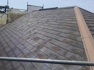 洗浄後の屋根材を乾燥