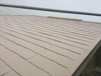 クールチェリーブラウンによる屋根塗装