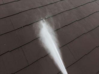 屋根塗装工事前洗浄