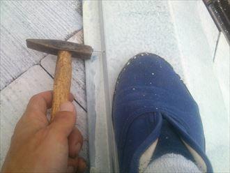 棟板金釘補修