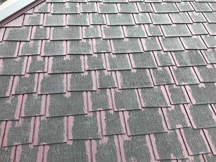 屋根塗装中塗り前