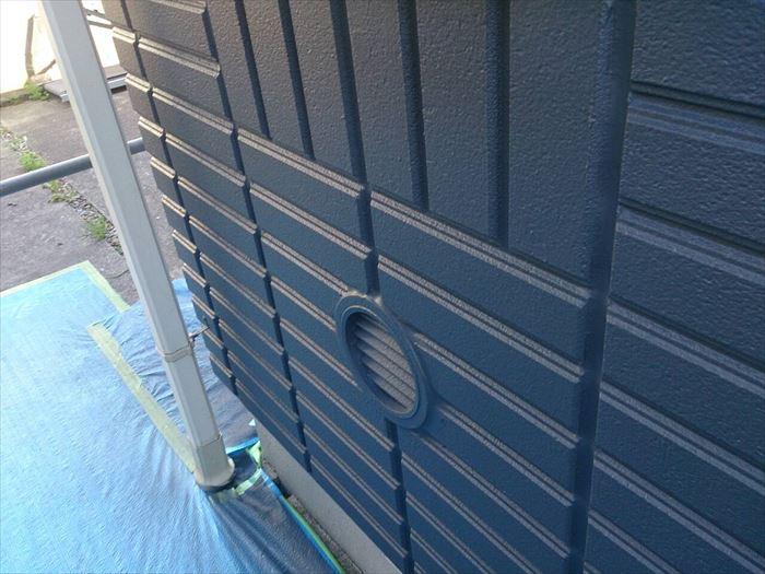 エラストコート濃色による外壁塗装工事完了