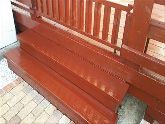 浸透系塗料でのウッドデッキ塗装