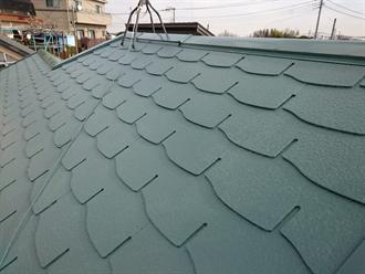 グリーン系の屋根塗装