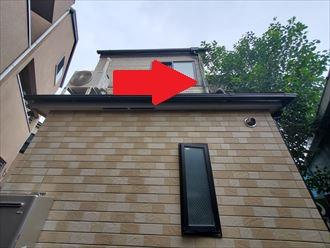 植栽が屋根まで干渉しています