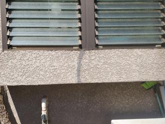 モルタル ひび割れ補修跡