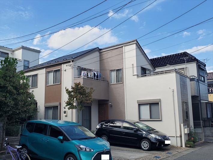 浦安市にてパーフェクトトップを使用した外壁塗装工事