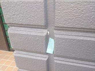塗料垂れのタッチアップ