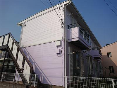 船橋市アパート屋根外壁塗装工事完了