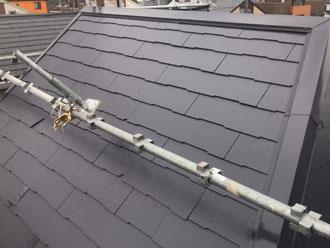 サーモアイ4Fで塗装した急勾配の屋根