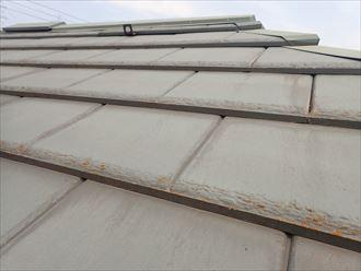 厚型スレート屋根材の点検