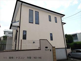 屋根:ナスコン 外壁:ND-146_R