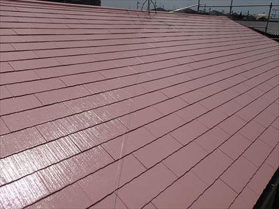 1液ワイドシリコン遮熱α,屋根塗装完了