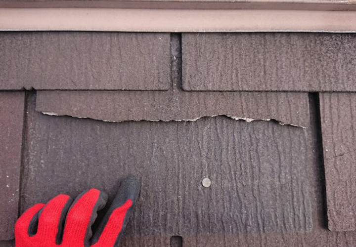 スペリアルneo(アスファルトシングル材)台風で被災してしまったと思われる箇所