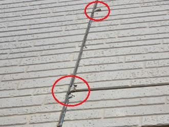 目地のシーリング劣化により外壁が一部破損しています