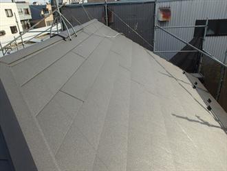ガルテクトによる屋根カバー工法完了