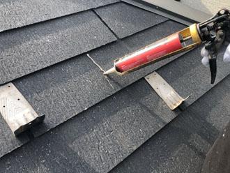 スレート屋根のひび割れ補修