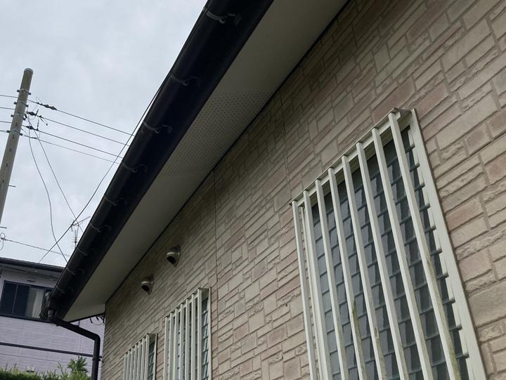 外壁を調査