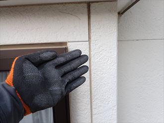 佐倉市江原で行った外壁調査で塗り替えのサインであるチョーキング現象を発見