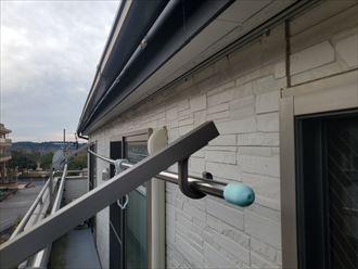 チョーキング現象が発生したサイディング外壁