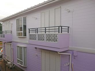 アパートの屋根外壁塗装完工