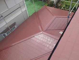 サーモアイSiのクールブラウンで塗装したスレート