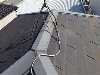 千葉市花見川区の屋根外壁塗装施工前