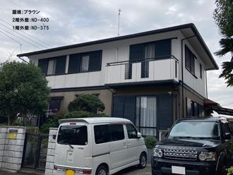 屋根;ブラウン-2階外壁:ND-400-1階外壁:ND-375