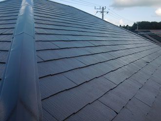 屋根の塗装完工