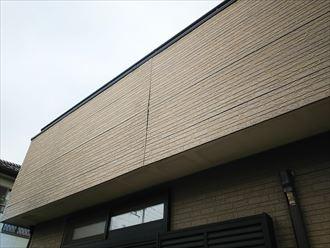 千葉市若葉区源町で行った外壁調査でサイディングボードの反りを発見