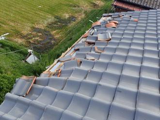 令和元房総半島台風によって被災した瓦屋根